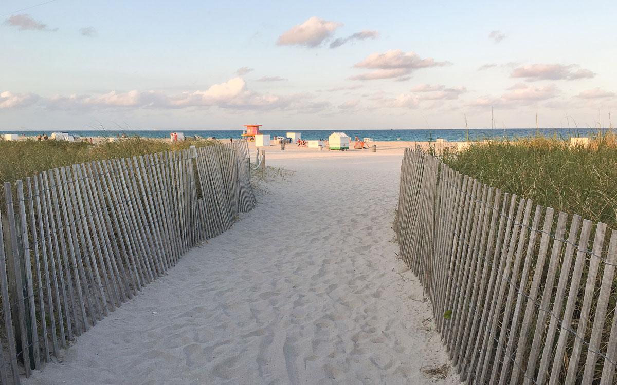 Strand in South Beach Miami Beach Sehenswürdigkeiten
