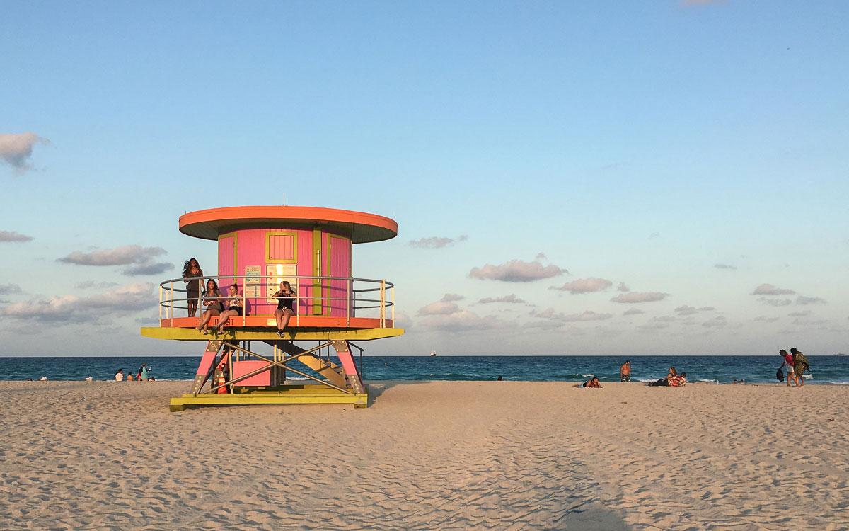 Miami Beach Sehenswürdigkeiten South Beach Rettungsschwimmerhütten