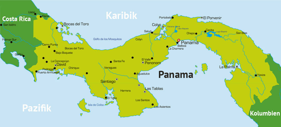 Panama Reisetipps Panama Karte