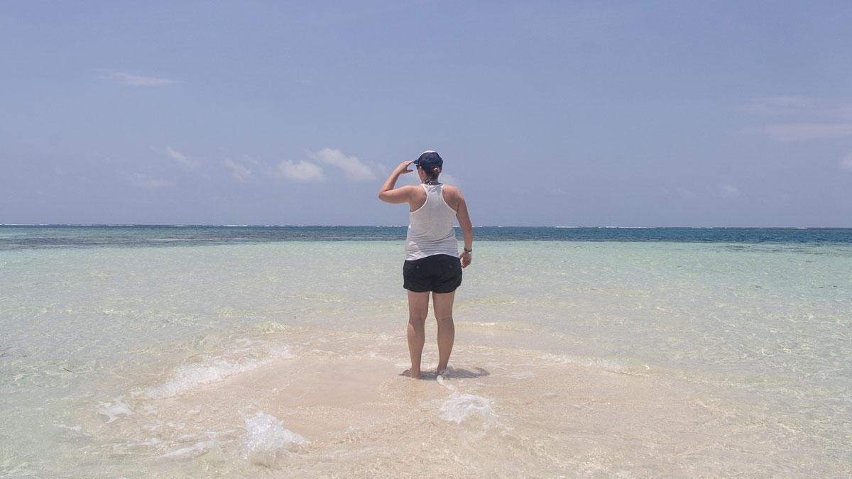 San Blas Inseln Guna Yala Panama Sandbank im Meer