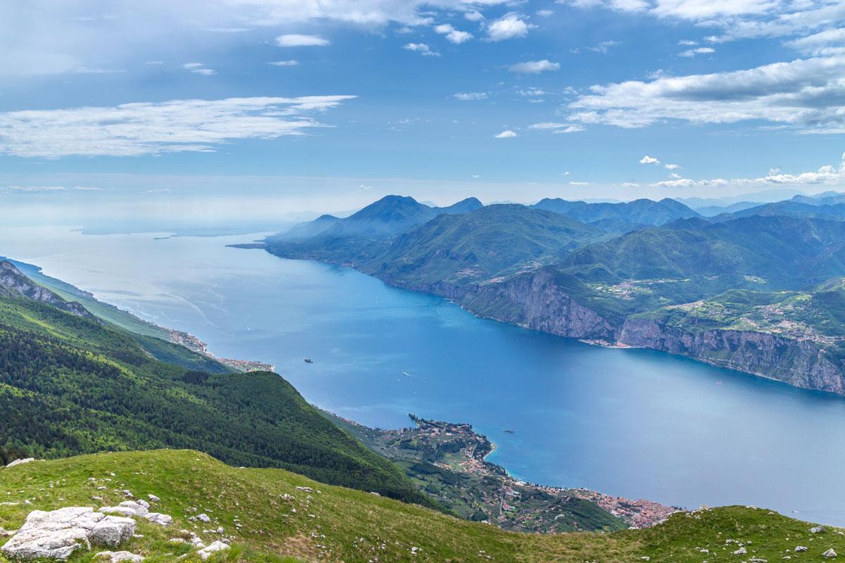 Gardasee Tipps Garda Trentino Blick vom Monte Baldo (Gardasee Italien)