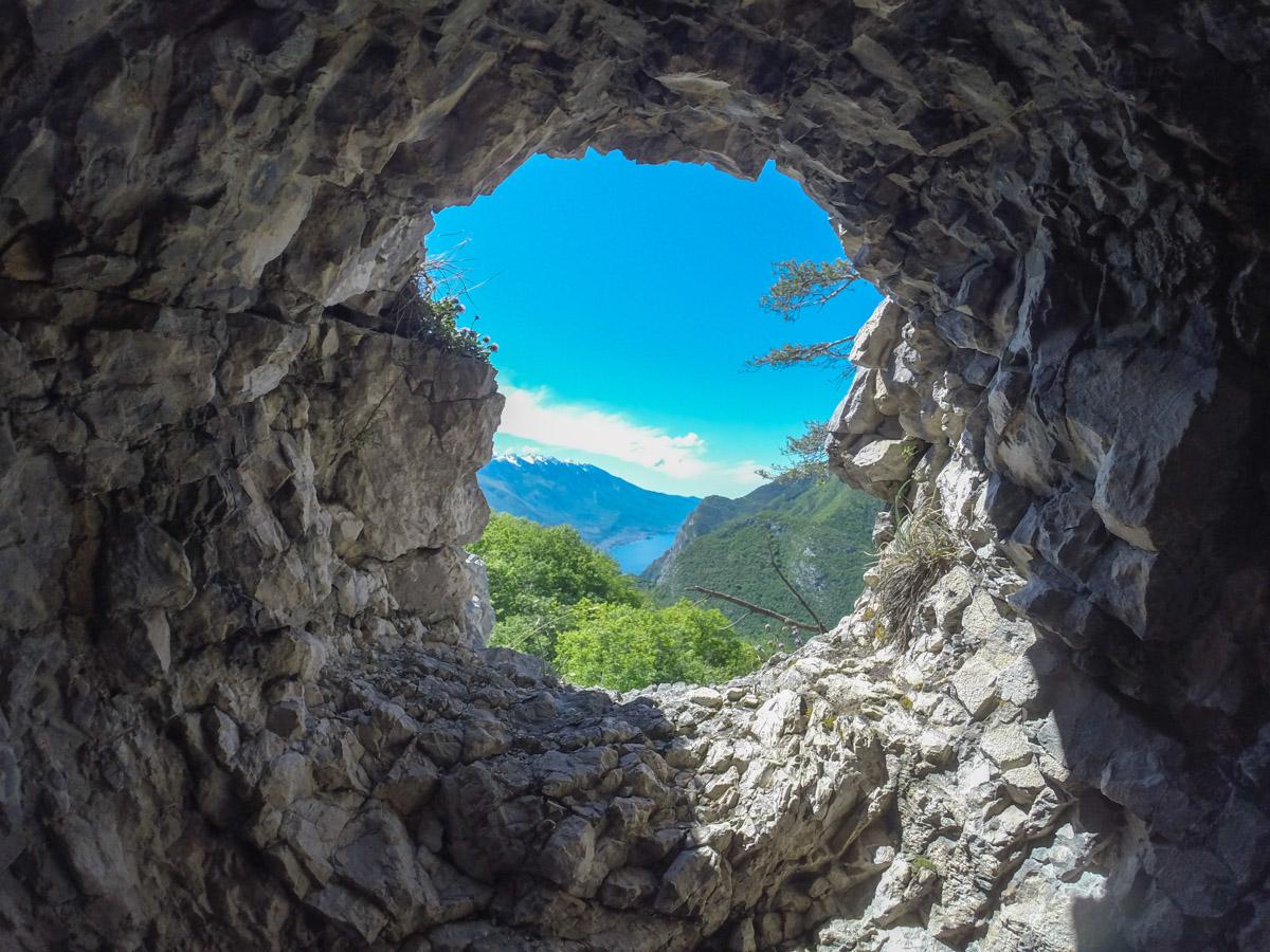 Gardasee Tipps Garda Trentino - Blick aus Bunker des Erster Weltkrieg