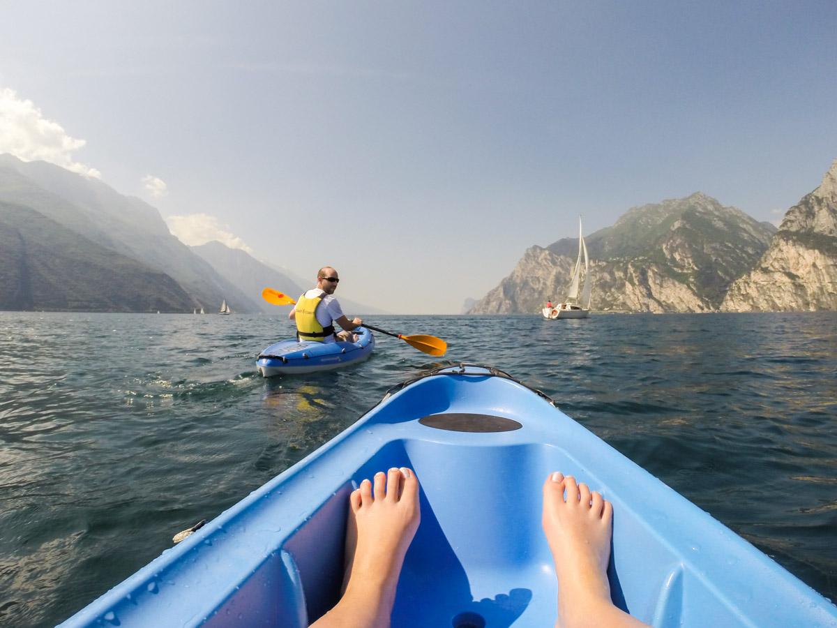 Gardasee Tipps Garda Trentino Kajaktour auf dem Gardasee