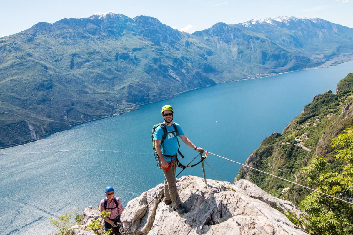 Gardasee Tipps Garda Trentino Klettersteig Blick auf Montebaldo