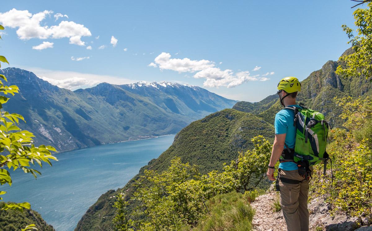 Gardasee Tipps Garda Trentino Klettersteig Cimacapi Aussicht