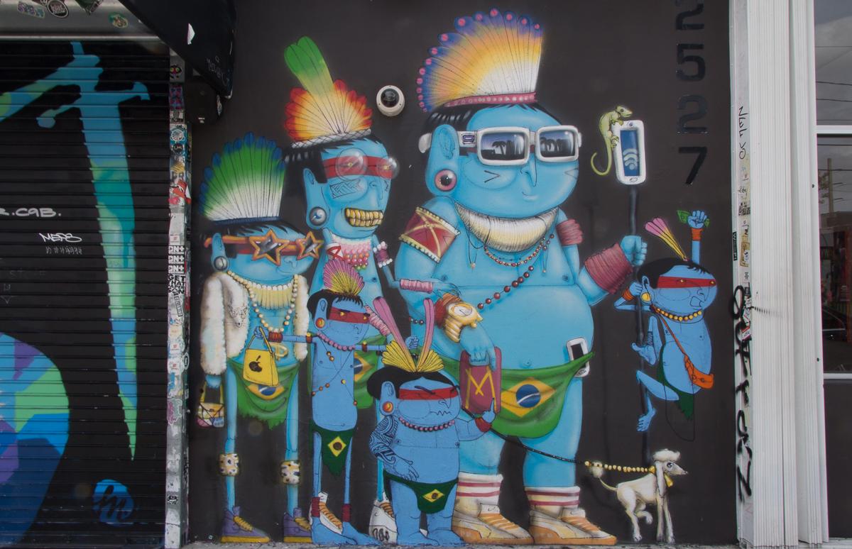 Miami Sehenswürdigkeiten Wynwood Walls Street Art Cranio Indianer