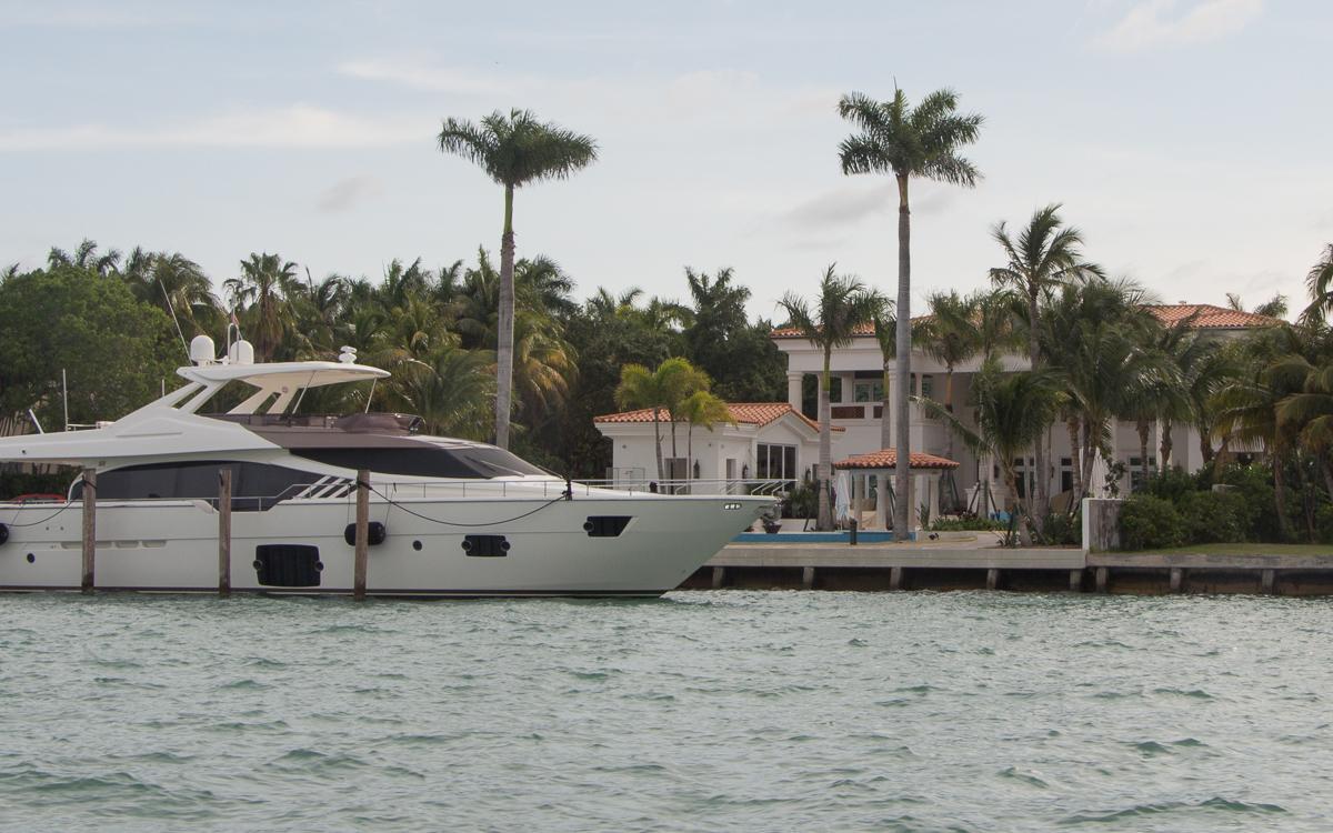 Miami Sehenswürdigkeiten Star Island Bootstour