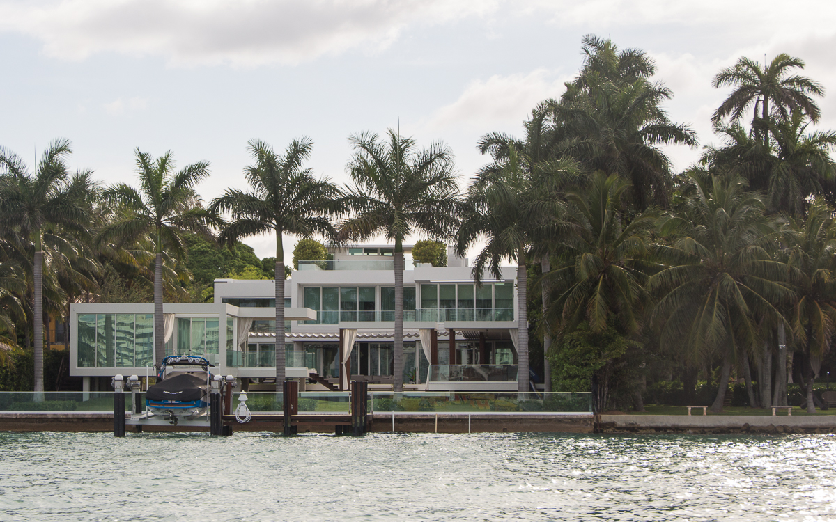 Miami Sehenswürdigkeiten Star Island Bootstour Miami Beach