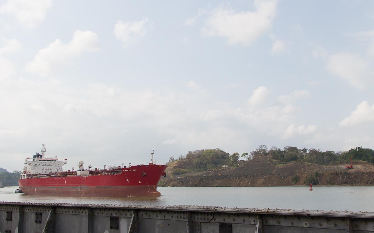 Panama Sehenswürdigkeiten Panamakanal Kontainerschiffe