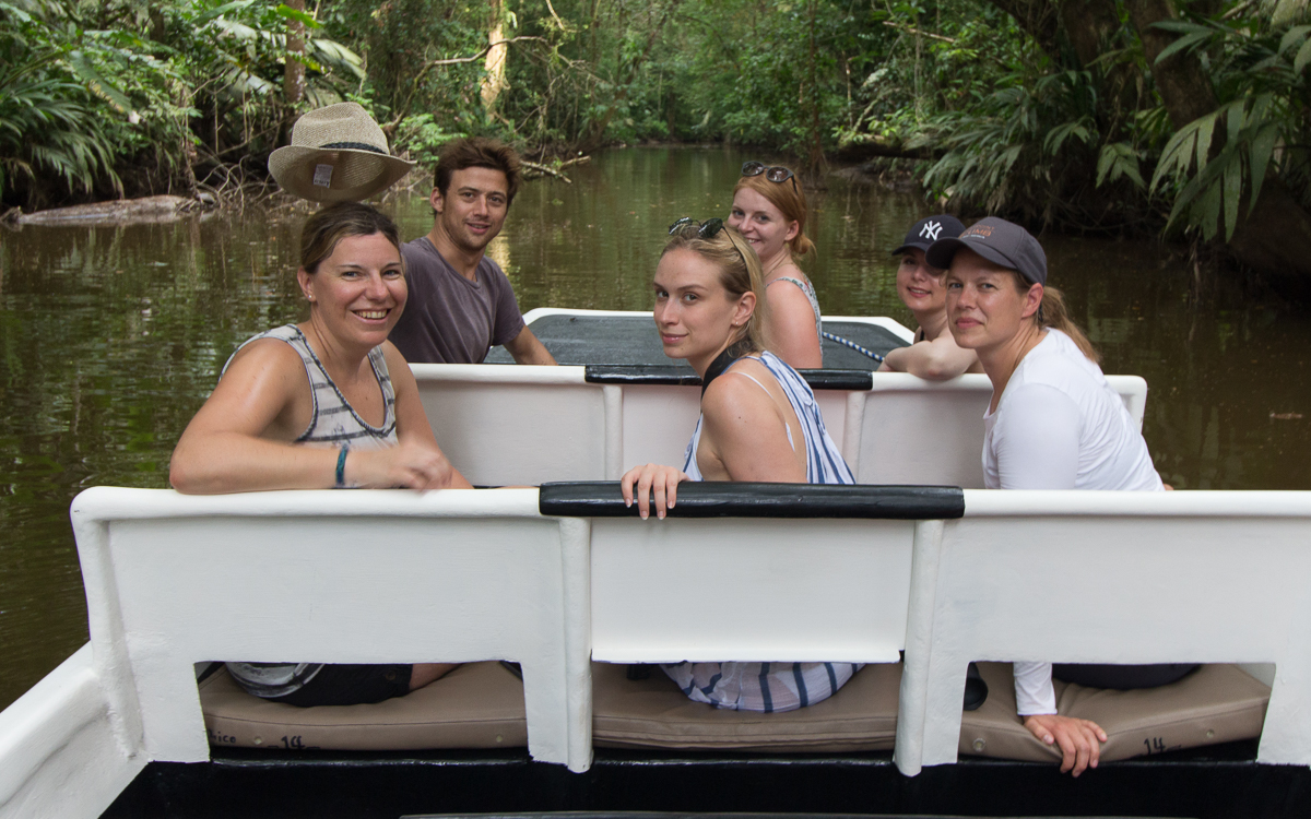 Tortuguero Nationalpark Boot Tour Gruppe