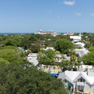 Key West Sehenswürdigkeit Leuchtturm Aussicht auf Hafen