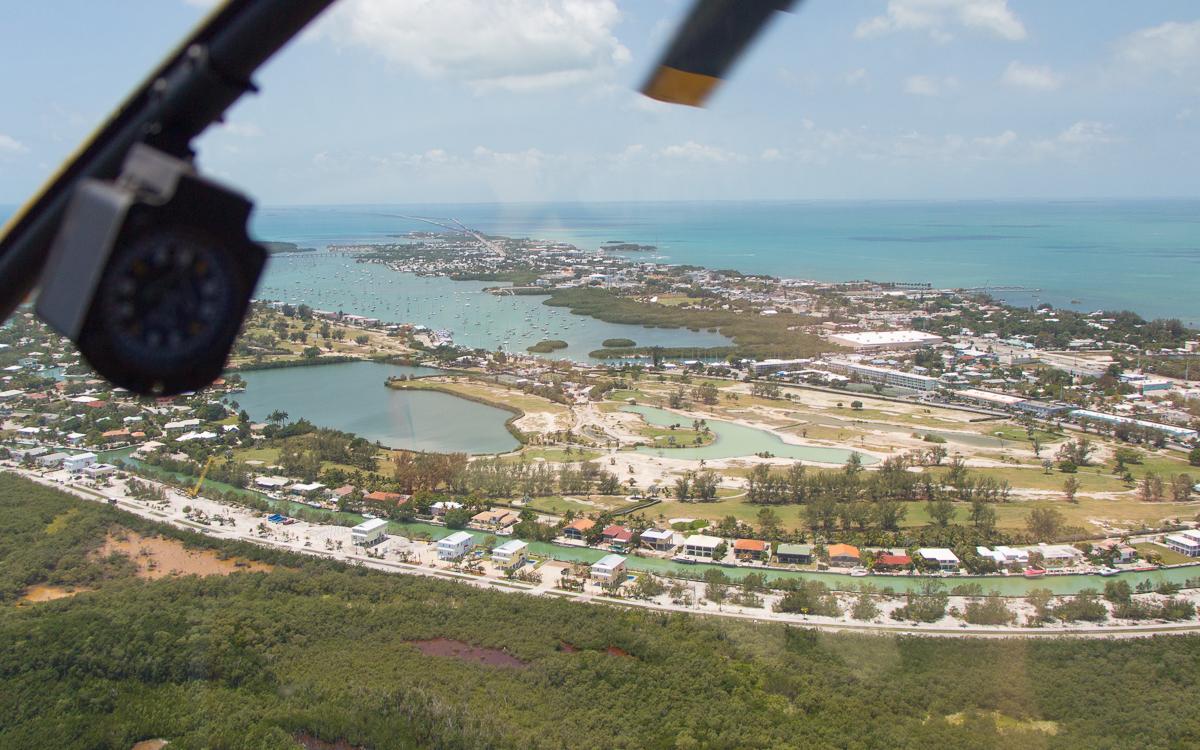 Helikopterflug in Marathon auf der Fahrt von Miami nach Key West