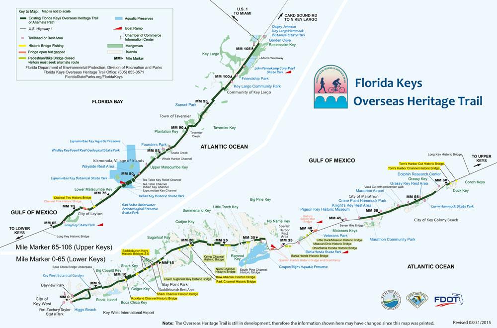 Florida Keys Karte Sehenswürdigkeiten