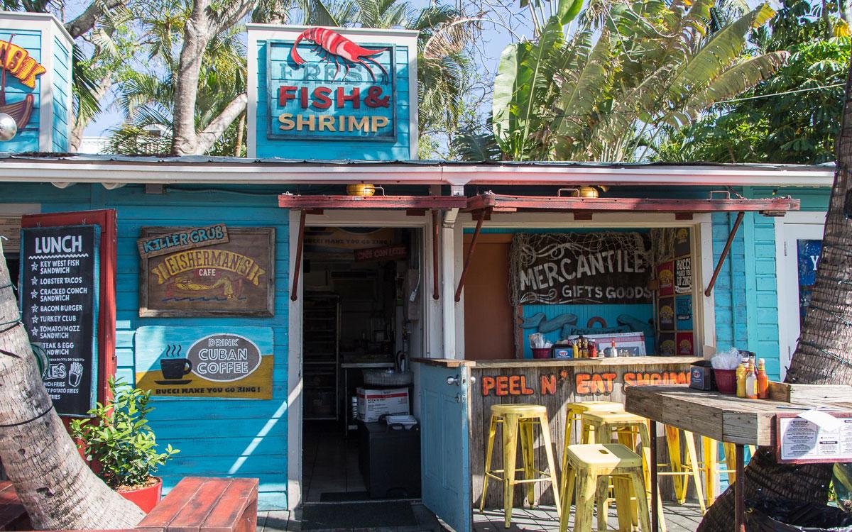 Key West Essen Fishermans Cafe