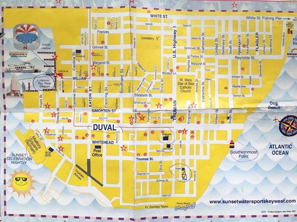 Karte von Key West Old Town