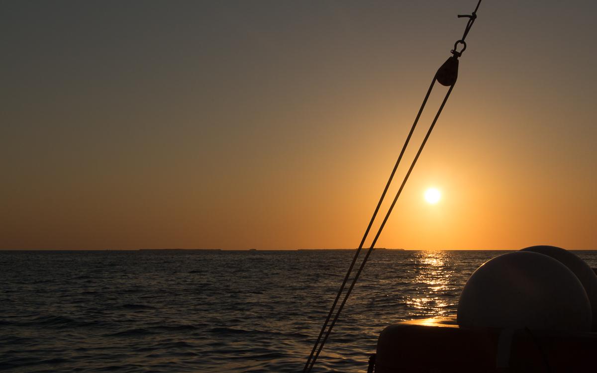Sonnenuntergang Key West auf Boot