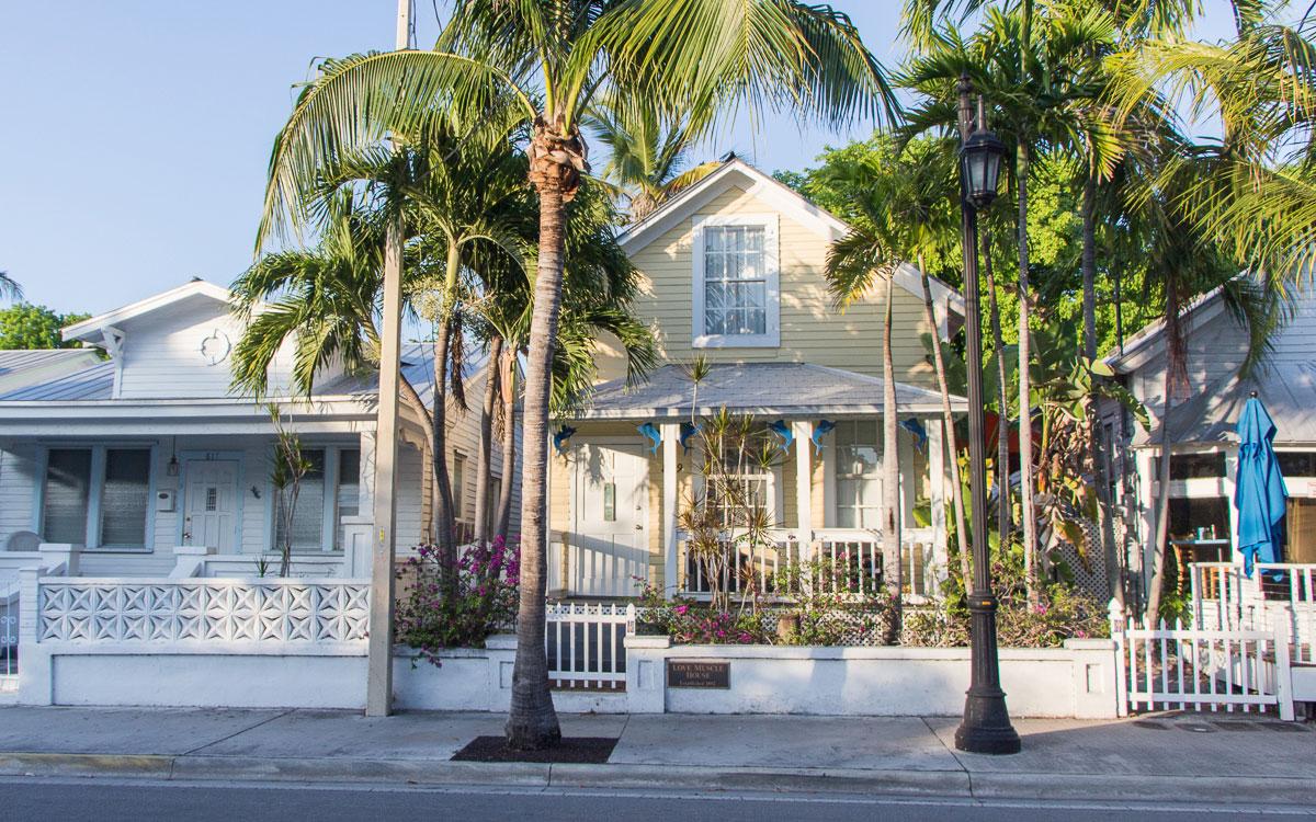 Key West Sehenswürdigkeiten Historisches Viertel Holzhäuser