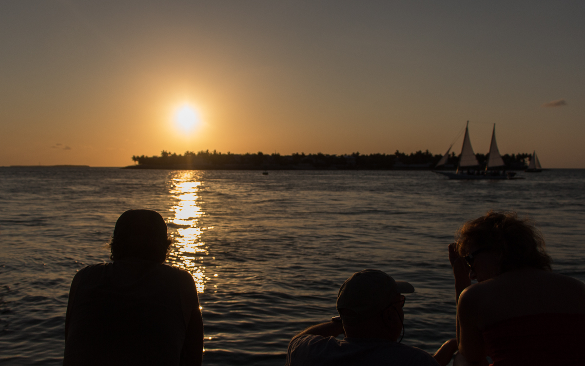 Key West Sehenswürdigkeiten: Sonnenuntergang am Mallory Square