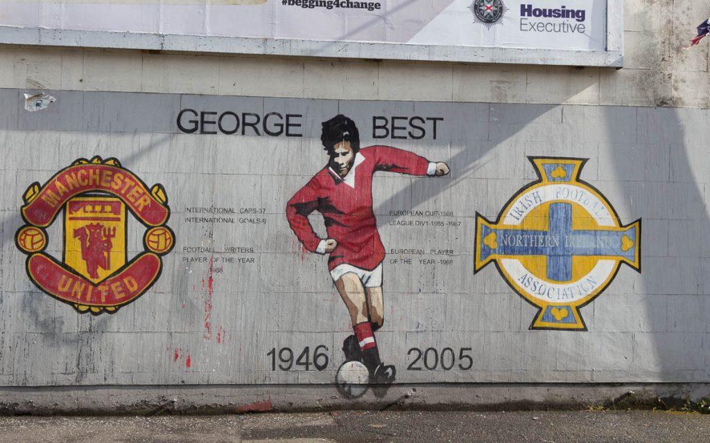 Murals in Belfast George Best Blythe Street Wandgemälde