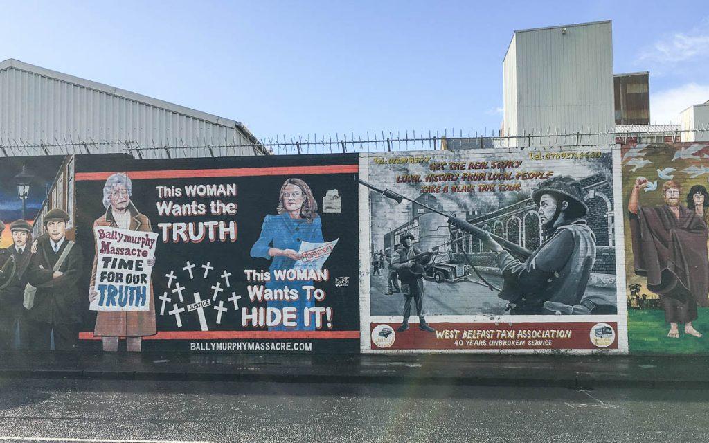Belfast Sehenswürdigkeiten Murals Street Art