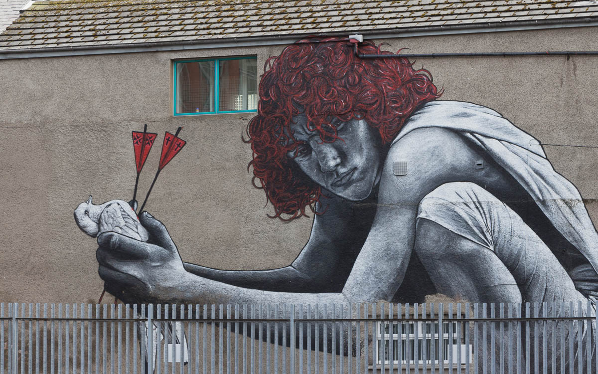 Belfast Street Art: The Son of Protagoras von MTO