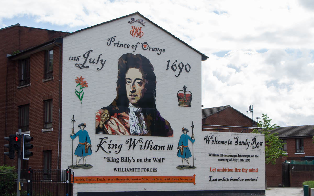 Belfast Street Art Sandy Row King William