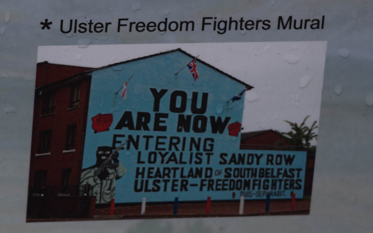 Belfast Ulster Freedom Fighters Mural Sandy Row