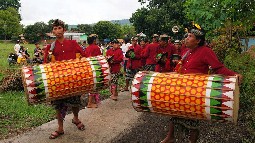 Indonesien Lombok Kultur traditionelle Hochzeit