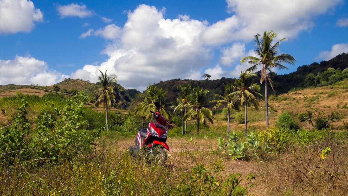 Lombok Urlaub Roller Tour Sekotong