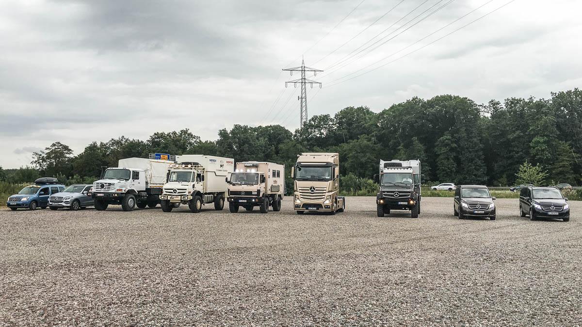 Flotte von Mercedes-Benz