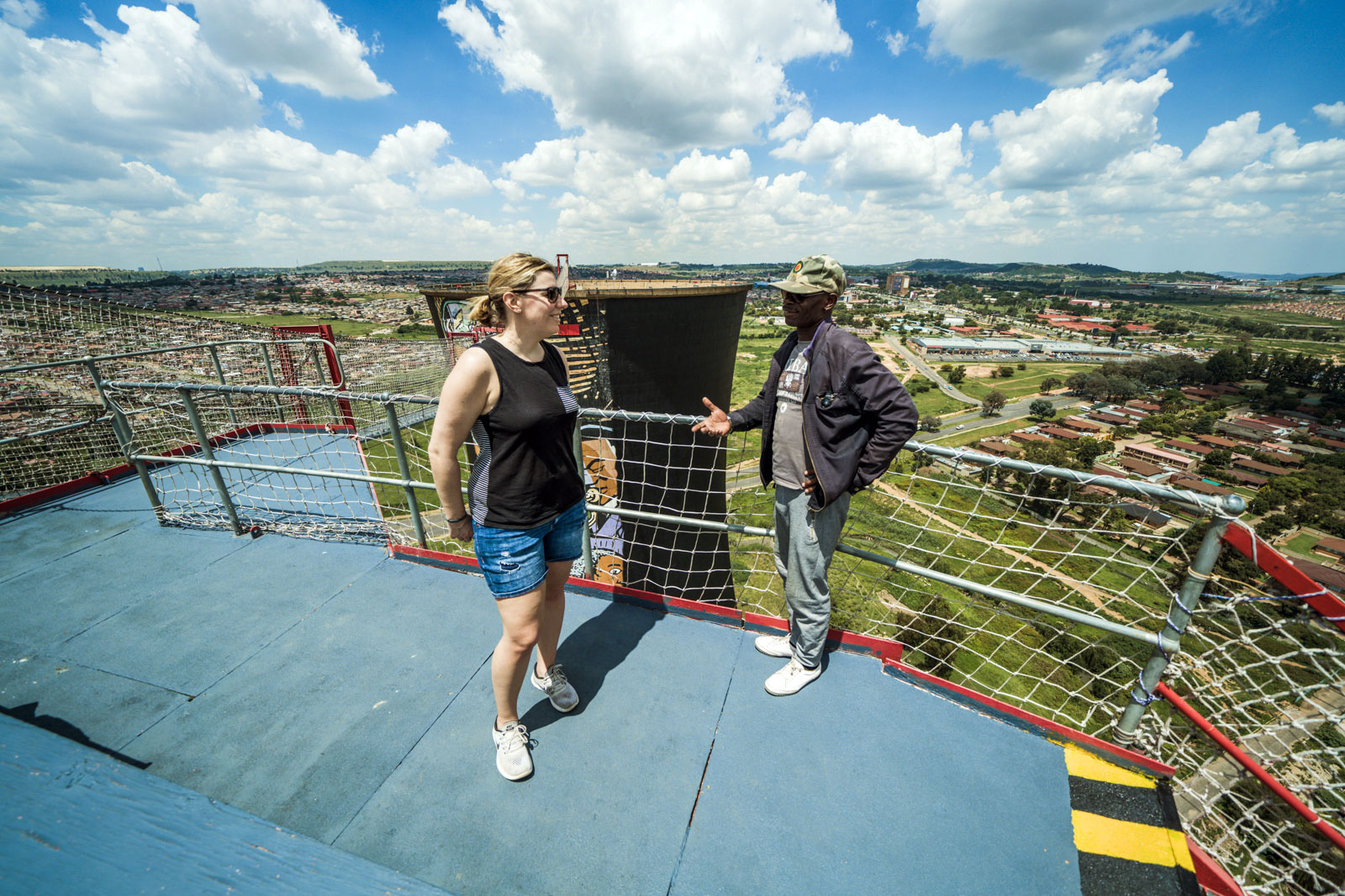 On top - Orlando Towers in Soweto