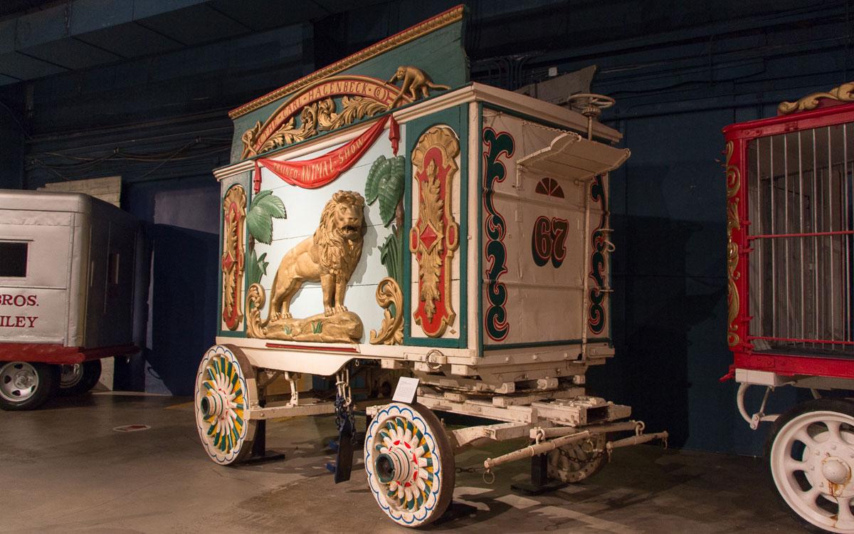 Sarasota Sehenswürdigkeiten Circus Museum Wagen für Tiere