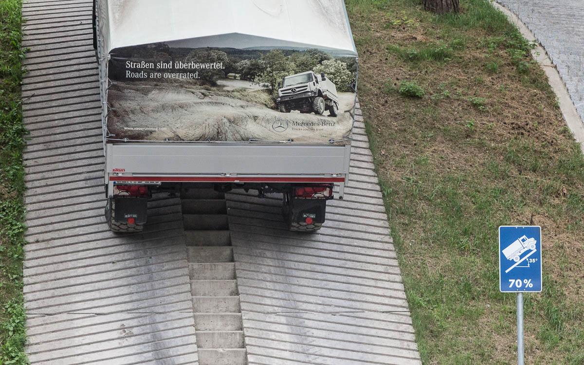 Mercedes-Benz Testgelände Unimog