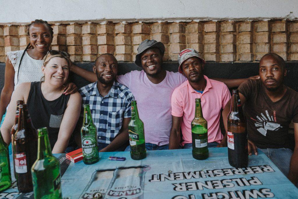 Township Kneipe Soweto mit Locals