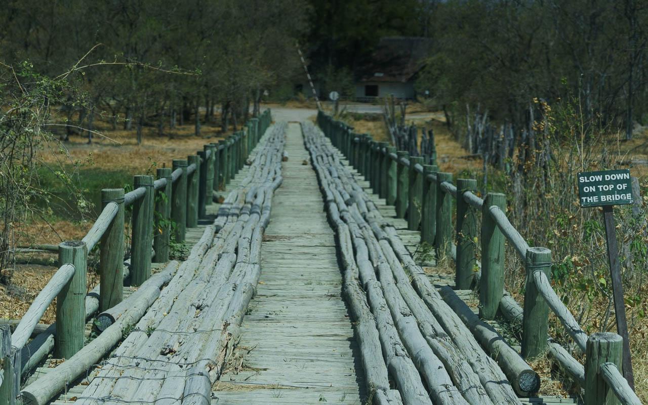 Autofahren Botswana Moremi 1st Bridge