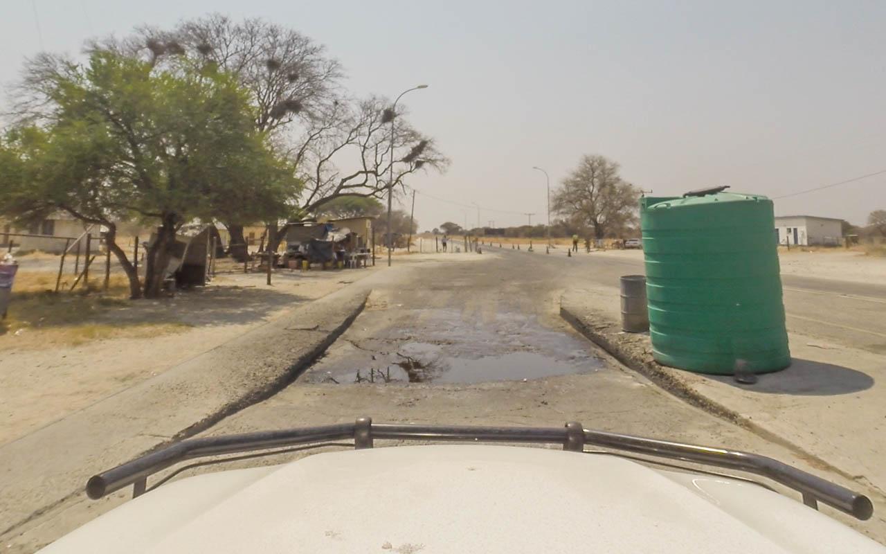 Autofahren Botswana Tipps Veterinärkontrolle