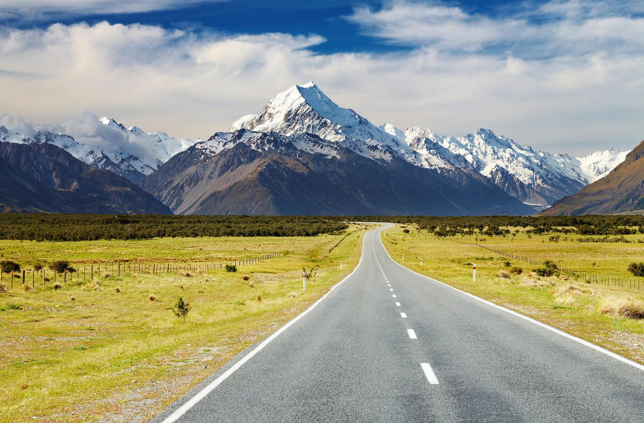 Neuseeland Tipps: Straße zum Mount Cook