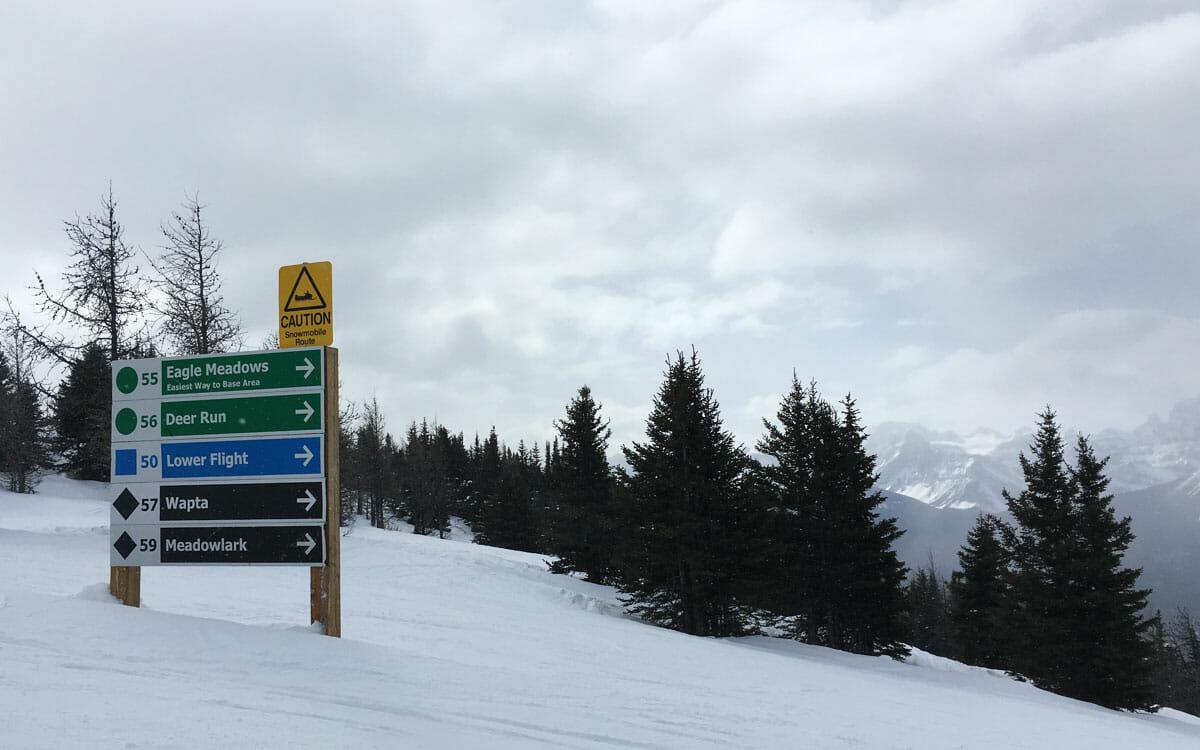 Skifahren Kanada Lake Louise Pisten Namen