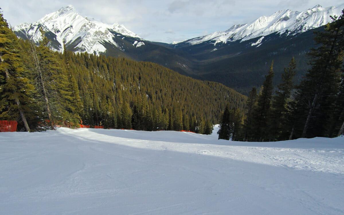 Skifahren Kanada Mt Norquay leere Pisten