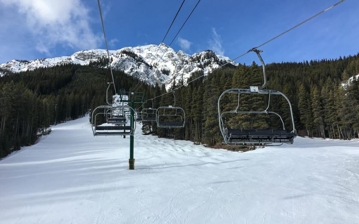 Skifahren Kanada Mt. Norquay Familienskigebiet