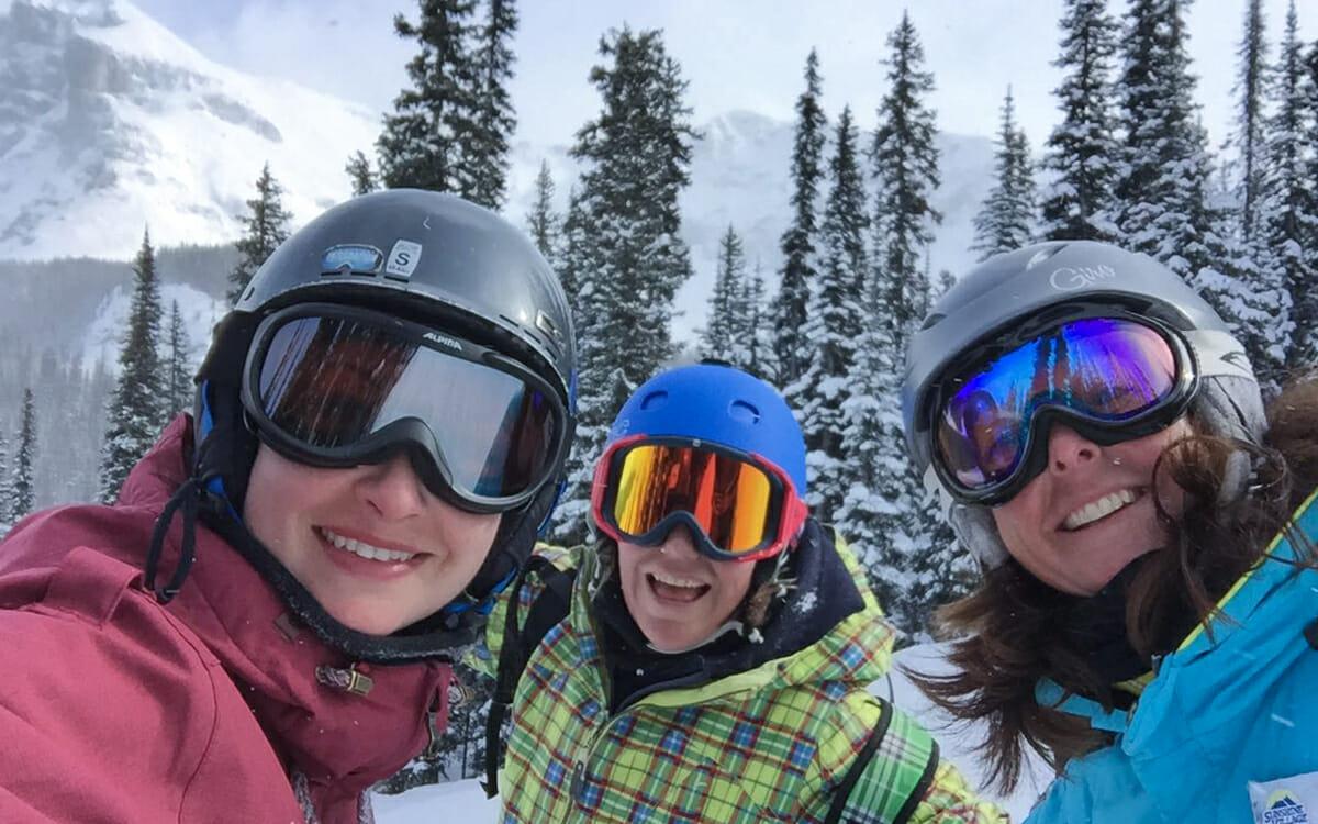 Skifahren Kanada Banff Sunshine Village Katrin