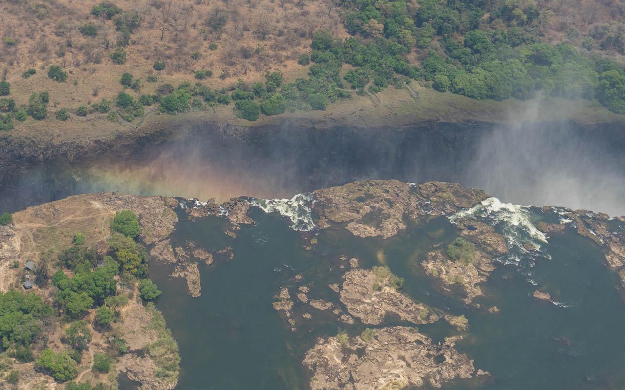 Victoria Falls Wasserfälle Regenbogen