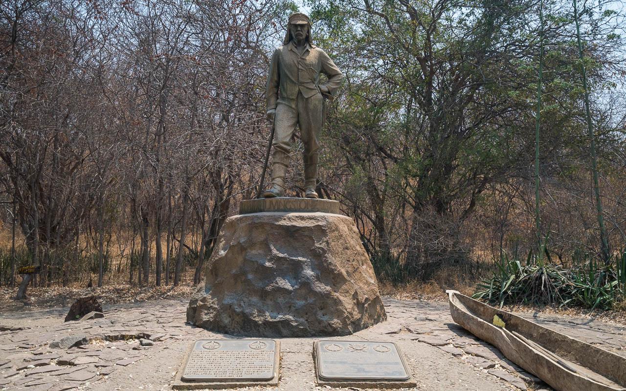 Victoria Falls Livingstones Denkmal