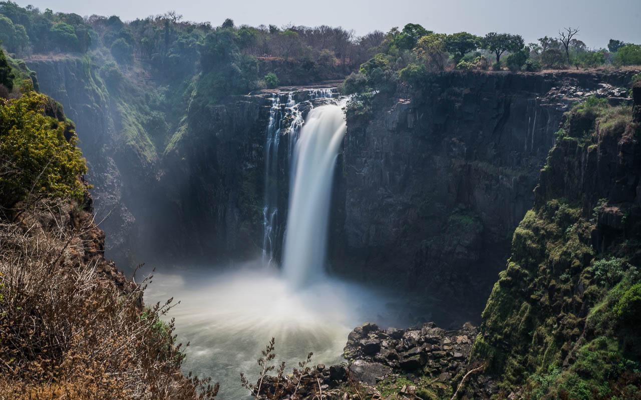 Victoria Falls Blick auf den Devils Cataract