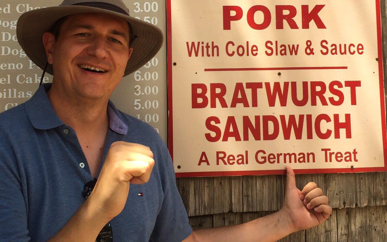 Austin Texas Tipps Luckenbach deutsche Bratwurst