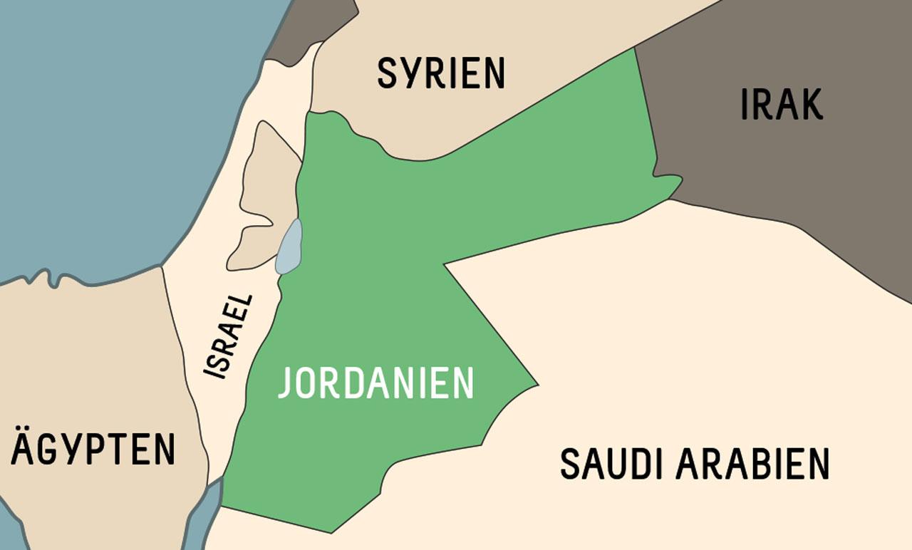 Jordanien Reisetipps Karte