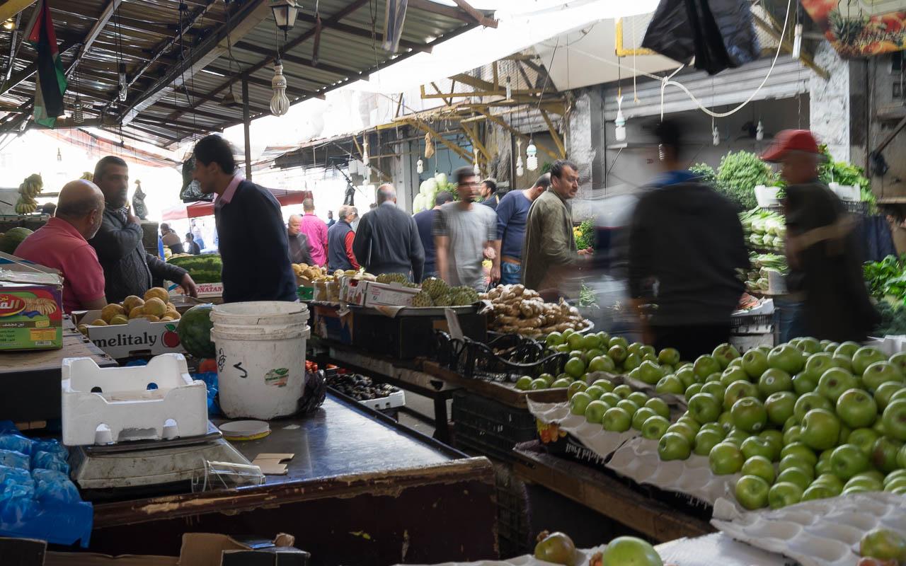 Gemüsemarkt Amman Jordanien Rundreise