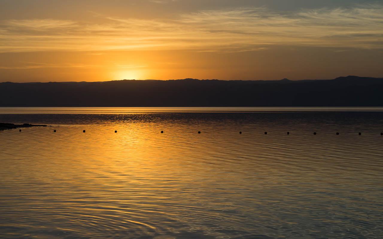 Sonnenuntergang Totes Meer Jordanien