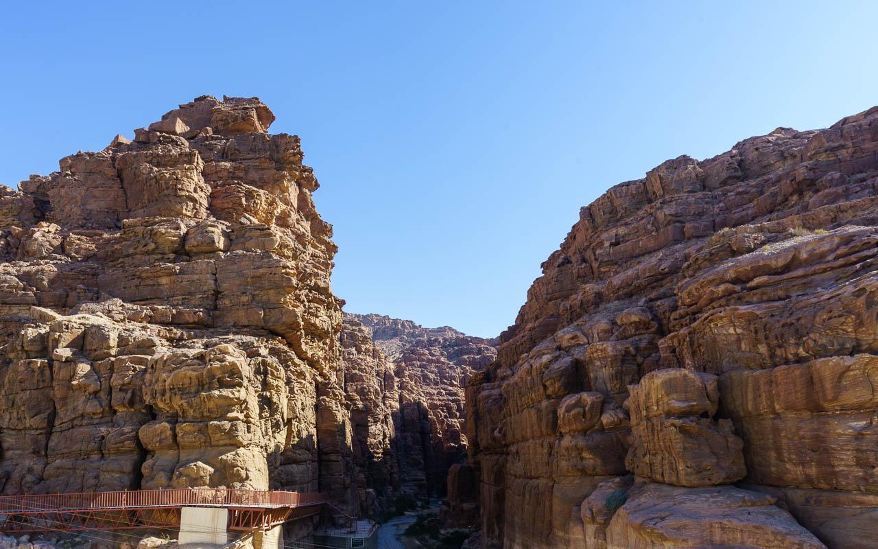 Reisebericht Jordanien Rundreise Wadi Mujib