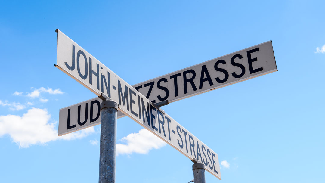 Windhoek Tipps Deutsche Straßenschilder